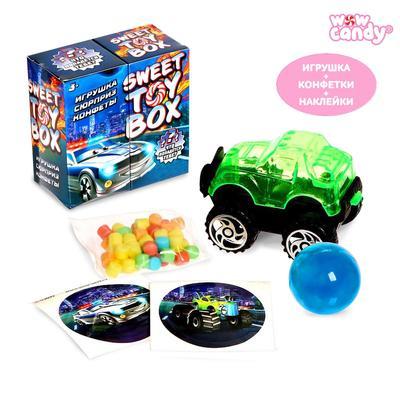 Игрушка сюрприз Sweet TOY BOX, конфеты, тачки - Фото 1