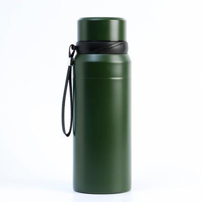 """Термос """"Основа"""" 750 мл, сохраняет  тепло 12 ч, с ситечком, зелёный - Фото 1"""