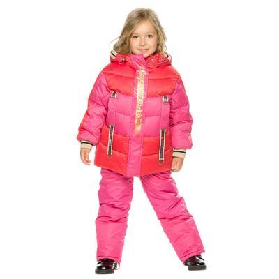 Комплект для девочек, рост 98 см, цвет красный