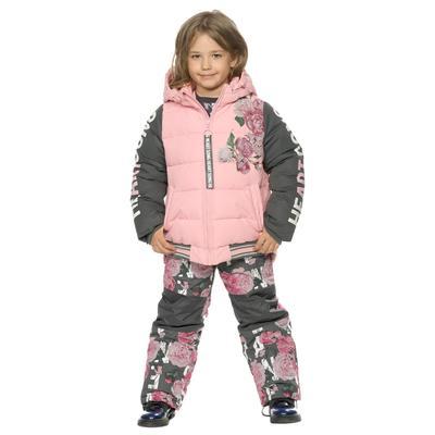 Комплект для девочек, рост 98 см, цвет розовый