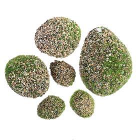 Мох искусственный «Камни», с каменной крошкой, набор 6 шт. Ош