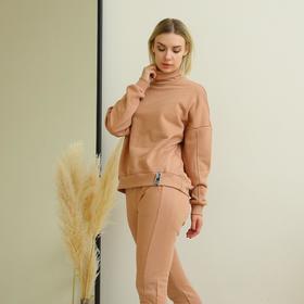 Джемпер женский, цвет карамель, размер 52