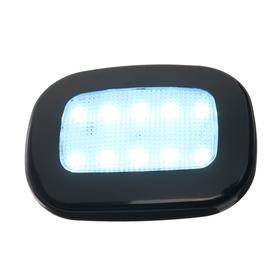 Светильник светодиодный в автомобиль, на магните, 10 LED, черный Ош