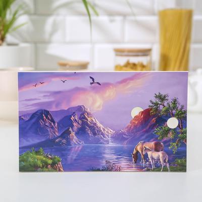 Доска разделочная «Лошадки», 15×25 см - Фото 1