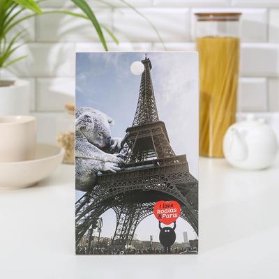 Доска разделочная «Эйфелева башня с коалой», 15×25 см