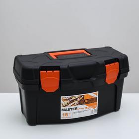 Ящик для инструментов Plastic Centre Master Economy, 16 л, чёрный оранжевый