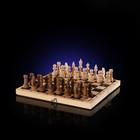 """Шахматы подарочные """"Новогодние"""", доска дерево 29х29 см, фигуры дерево"""