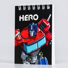Блокнот А7, 32 листа на гребне, «Оптимус Прайм» Transformers Ош