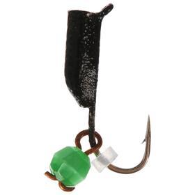 Мормышка вольфрам «кошачий глаз» 0,58 г, подвес d2 зелёный