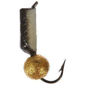 Мормышка вольфрам «столбик» 2,5, с фосфором + «звёздная пыль» 363