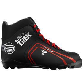 Ботинки лыжные TREK Level 2 SNS, цвет чёрный, лого красный, размер 44