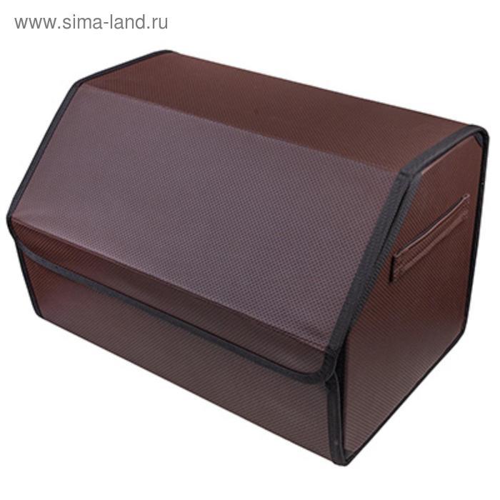 Органайзер кофр в багажник Skyway CLASSIC 49х30х30 см экокожа, коричневый