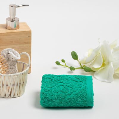 Полотенце махровое ASTERYA 30х50 см, зеленый, хлопок 100%, 420г/м2