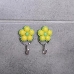 Набор крючков на липучке «Малютки», 2 шт, цвет МИКС Ош