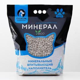 Наполнитель минеральный впитывающий 'Пижон Premium', для длинношерстных кошек, 10 л Ош