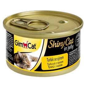 Консервы GIMCAT ShinyCat для кошек, из тунца с сыром, 70 г