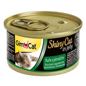Консервы GIMCAT ShinyCat для кошек, из цыпленка с ягненком, 70 г
