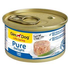 Влажный корм GIMDOG Pure Delight, для собак из тунца, 85 г
