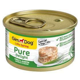 Влажный корм GIMDOG Pure Delight, для собак из цыпленка с ягненком, 85 г