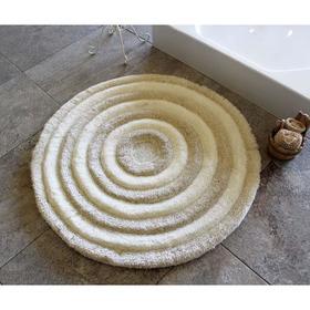 Коврик для ванной круглый ROUND, d=90 см, акрил, цвет экрю