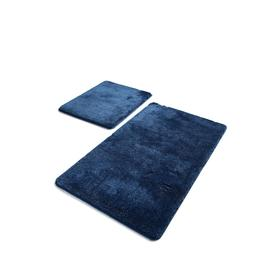 Комплект ковриков для ванной HAVAI, 2 шт, размер 50 х 80 см и 40 х 50 см, акрил, цвет синий
