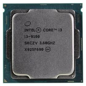 Процессор Intel Core i3 9100, LGA1151v2, 4x3.6ГГц, DDR4 2400МГц, UHD 630, TDP 65Вт, OEM