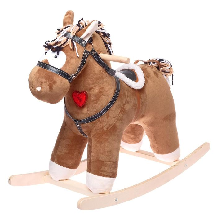 Качалка музыкальная «Конь Свэн», цвет коричневый