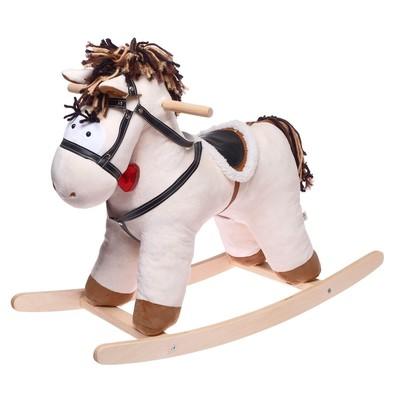 Качалка «Конь Свэн», цвет бежевый - Фото 1