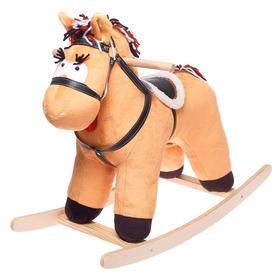 Качалка «Конь Свэн», цвет светло-коричневый