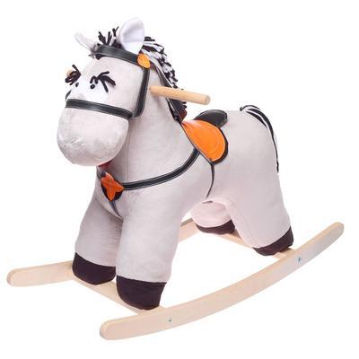 Качалка «Конь Свэн», цвет серый - Фото 1