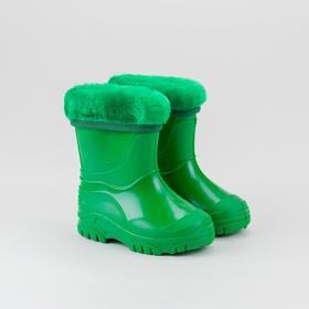 Сапоги детские, цвет зелёный, размер 26 Ош