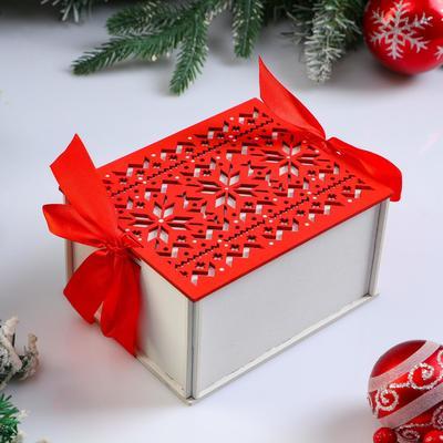 """Коробка деревянная, 16×13×8.7 см """"Новогодняя. Норвежская"""", подарочная упаковка - Фото 1"""