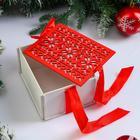 """Коробка деревянная, 16×13×8.7 см """"Новогодняя. Норвежская"""", подарочная упаковка - Фото 2"""