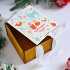"""Коробка деревянная, 16×13×9 см """"Новогодняя. Новогодних чудес"""", подарочная упаковка, ленты - Фото 2"""