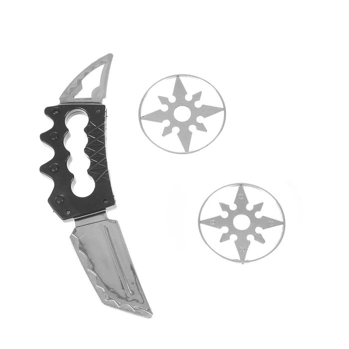 Набор оружия Ниндзя, кастет, 2 диска