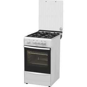 Плита Darina 1B GM 341 107 W, газовая, 4 конфорки, 50 л, газовая духовка, белая