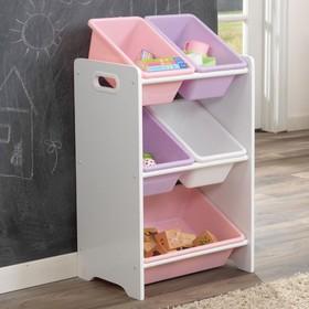 Система хранения с пятью контейнерами, цвет пастель