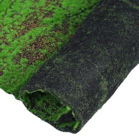 Мох искусственный, декоративный, полотно 1 × 1 м, рельефный, с щепой, зелёный Ош