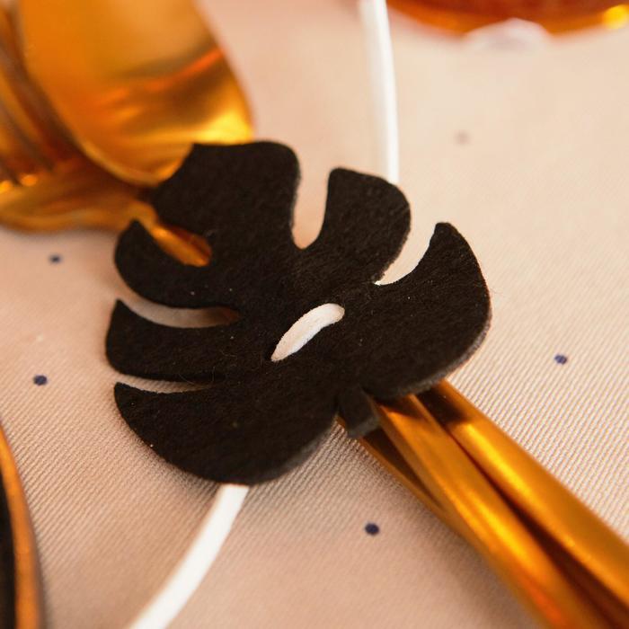 """Декор для салфетки """"Тропики"""" 5,8 х 6,6 см, 100% п/э, фетр"""