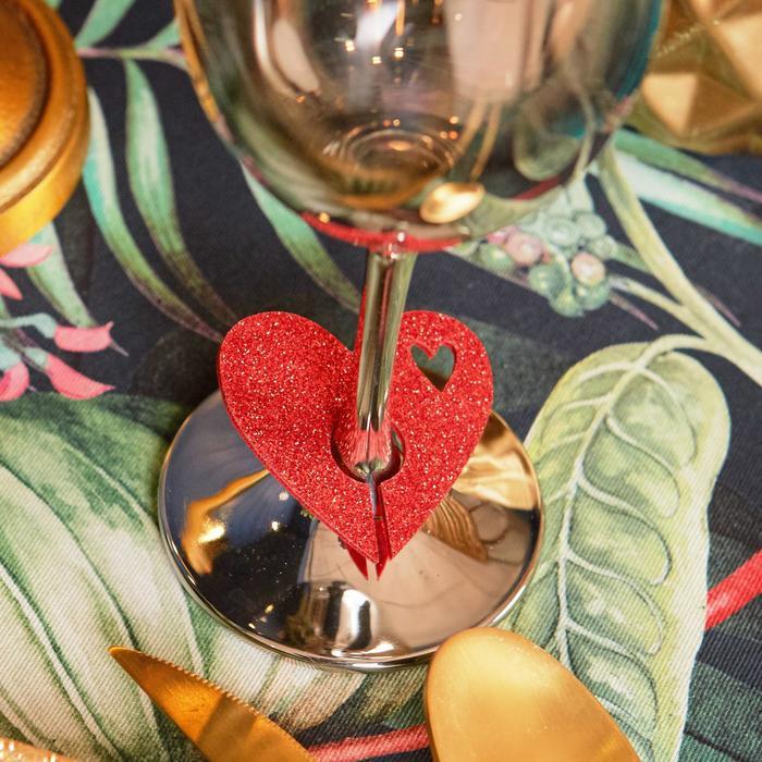 Декор для бокала Love 5,5 х 5 см, 100 пэ, фетр