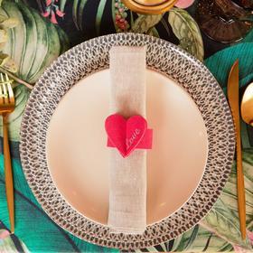 Кольцо для салфетки 'Love' 20 х 5,1 см, 100% п/э, фетр Ош