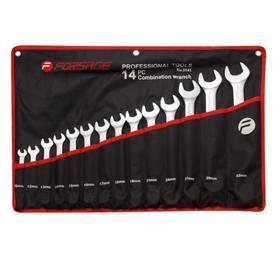 Набор ключей комбинированных Forsage F-5141, 10,12-19,21,24,27,30,32 мм, 14 предметов