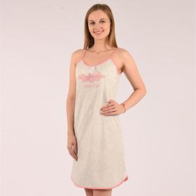 Сорочка женская, цвет серый/горох, размер 44