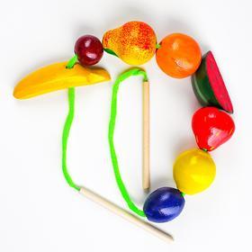 Бусы фрукты-ягоды цветные Д-342