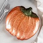 Тарелка «Волшебная тыква», d=21 см, цвет оранжевый