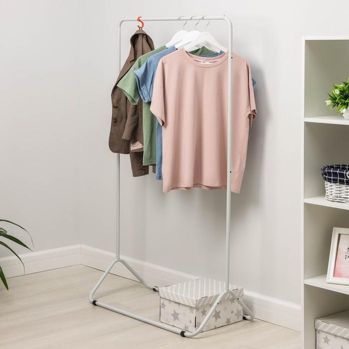 Вешалка гардеробная «Радуга-3», 82,5×42×150 см, цвет серый