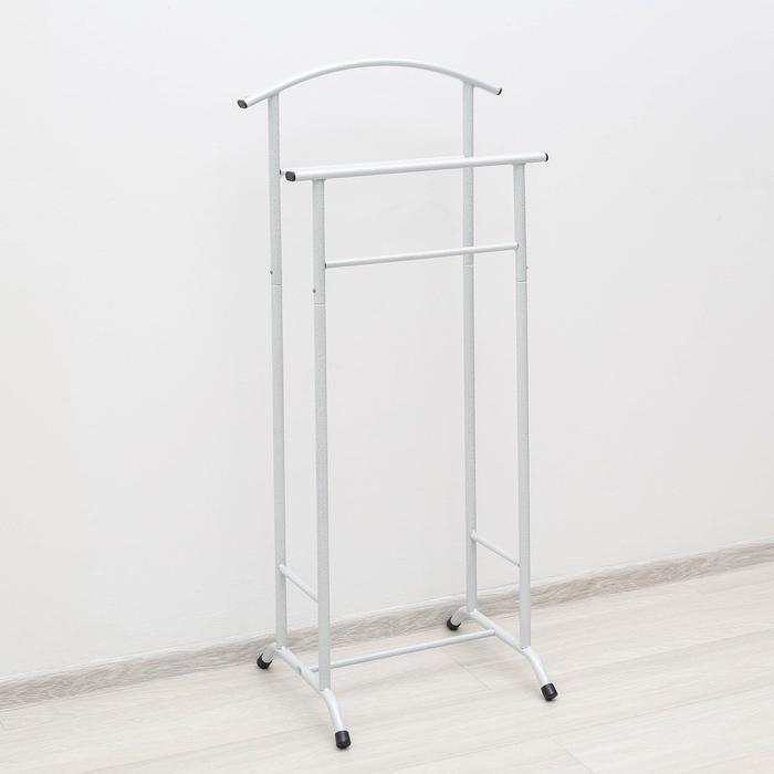 Вешалка гардеробная «Стиль-3», 47×34,8×108 см, цвет белое серебро
