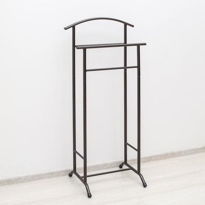 Вешалка гардеробная «Стиль-3», 47×34,8×108 см, цвет медный антик