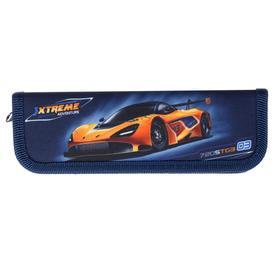 Пенал 1 секция, 60 х 190 мм, тканевый, «Оникс», ПКТ 01- 20, Auto orange