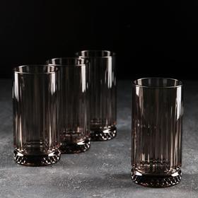 Набор стаканов «Элизия», 445 мл, 4 шт, цвет серый